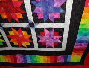Sharon Hughes Machine Quilting Studio 6 Rainbow Stars